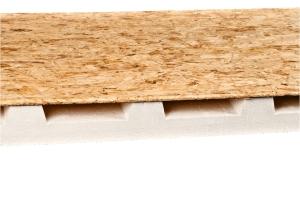 Isolpanel pannello isolante in polistirene espanso con OSB tipo 3 da esterni, per tetto ventilato